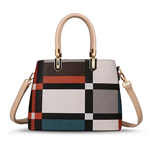 TIBES Handbags for Women Ladies Tote Shoulder Bags Satchel Top Handle Satchel Purse in Pretty Color Combination