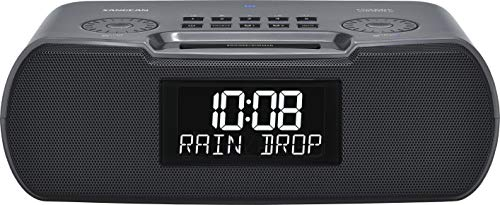 Sangean RCR-30 FM-RBDS / AM / Bluetooth / Aux-In Digital Tuning Clock Radio with USB Phone Charging and Sound Soother, Gray