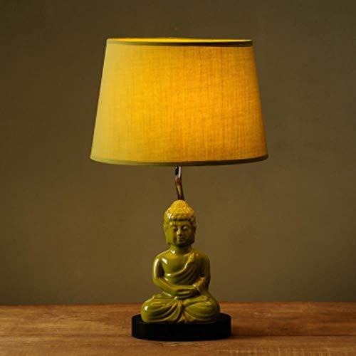 Tischlampe kreative minimalistisch modernen Retro Buddha Lampe Schlafzimmer Nachttischlampe portofr,Grün