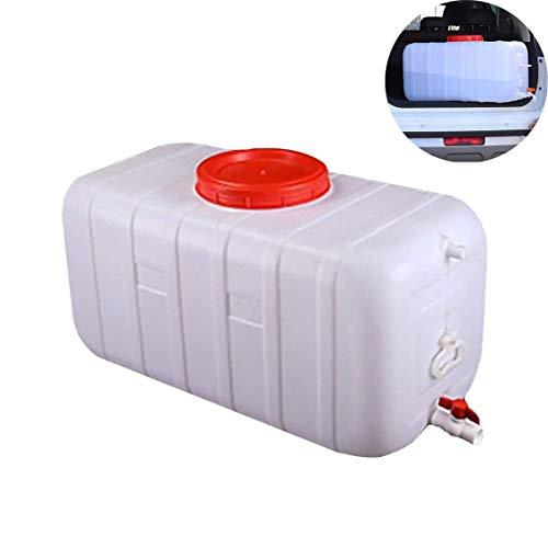 XIAOWANG Outdoor-Wassertank Mit Wasserhahn Weiß Dicken Kunststoff-Wasservorratsbehälter Portable Home Storage Eimer Rechteckig, Säure-(25L/50L/75L/110L/150L/200L),200L