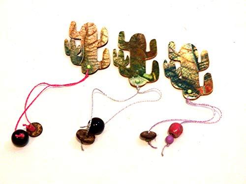 Segnalibri personalizzati, set 3 segnalibri cactus, segnalibri matrimonio, segnalibri libro, segnalibri stampe, cactus di legno