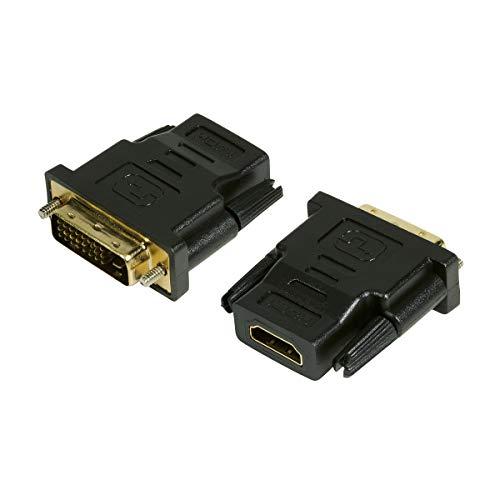 LogiLink HDMI zu DVI-D Adapter Digital (DVI Dual Link Belegung 24+1), unterstützt alle HDTV und HD ready Standards