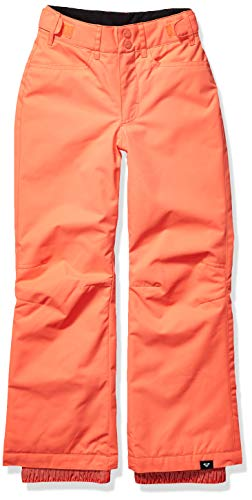 Roxy Snow Big Backyard Girl Pant, Living Coral, 8/S