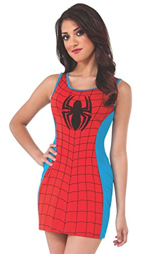 Rubie's Women's Marvel Universe Adult Spider-man Tank Dress, Multi, Small