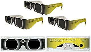 Solar Eclipse Glasses - ISO Certified, CE Approved - 3 Pairs -