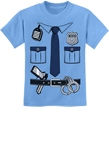 Police Cop Uniform Halloween Costume Policeman Outfit Suit Youth Kids T-Shirt Medium California Blue