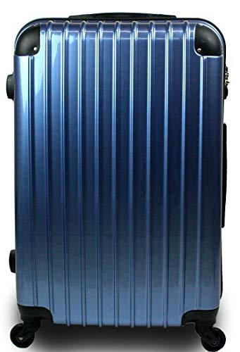 スーツケース キャリーバッグ 3サイズ(大型 Lサイズ/中型 Mサイズ/小型 Sサイズ)TSA搭載 コスモ3000PC 超軽量 ファスナーモデル (Sサイズ 小型 1泊~3泊用, プレミアムブルー)