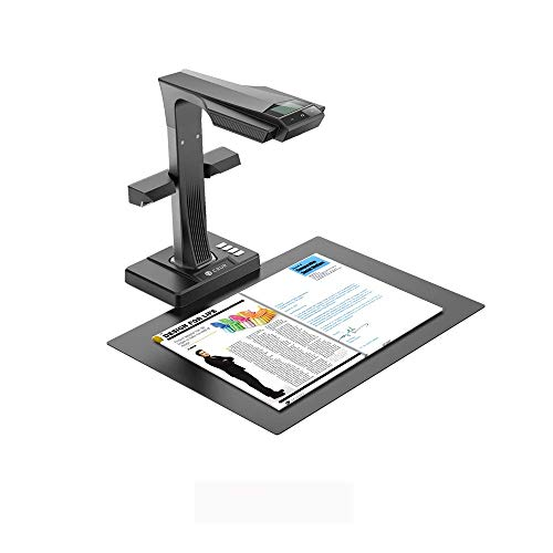 CZUR ET16-P Scanner Professionale per Libri, Scanner Inteligente per Documento, Converte i Documenti in PDF, PDF Ricercabile, Word, Tiff, Excel, Compatibile con Win MacOS, di Scansione Fino Ad A3