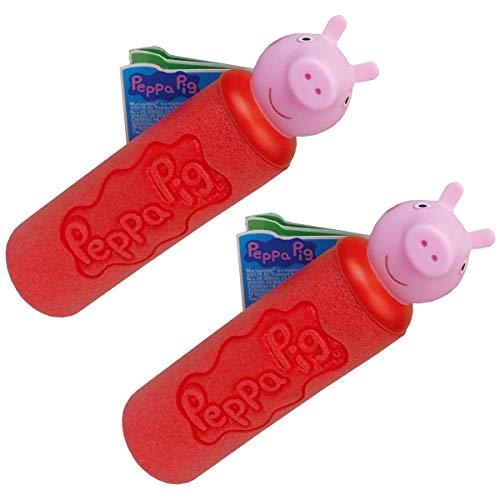Smart Planet Juego de 2 pistolas de agua de Peppa Pig con 2 pistolas de pulverización de agua de Peppa Pig