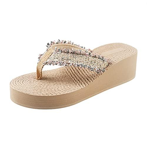 Eaylis Maden Mode Strand Atmungsaktive Sandalen Home Slipper Flip-Flops Wedges Schuhe