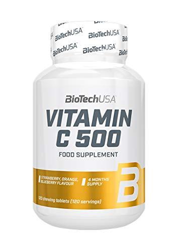 BioTech USA IAF00046179 Vitamin C 500, 120 Tavolette, Frutti