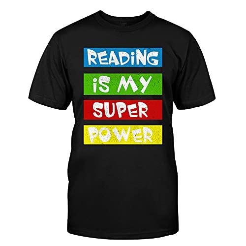 Reading is My Super Power - Camisa de lectura, regalos para lectores, camiseta de libro, camiseta sobre la lectura, camiseta