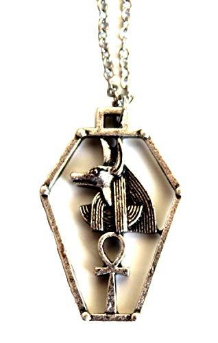 Collar con colgante egipcio de Anubis Inpou – símbolo de estrella Sirius – Passor y guardián de los Enferros – Regalo original para hombre y mujer