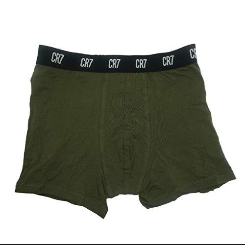 CR7 Herren Basic Trunk All Over Print Unterhose, Black/AOP/Green, XXL