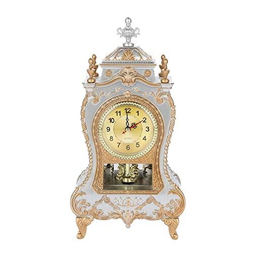 HAINING Relojes despertadores Escritorio Vintage Creativo Relojes despertadores Retro Realeza clásica Sentado Sala de realeza clásica Escritorio de Armario de TV