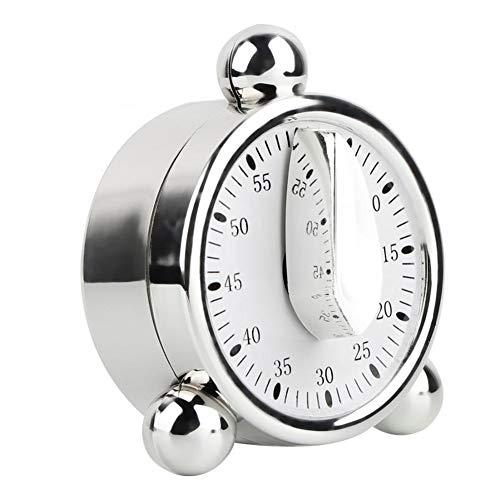 3°Amy Temporizadores de cocina 60 Minutos cocina contador de tiempo mecánico de acero inoxidable cocina casera recordatorio temporizador Oficina temporizador de cuenta regresiva del reloj de alarma #a