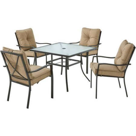 Mainstay` Forest Hills 5-Piece Dining Set, Tan