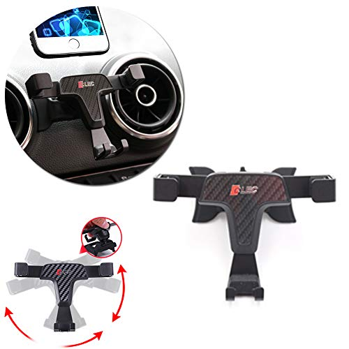 GTINTHEBOX Smartphone Cell Phone Mount Holder with Adjustable Air Vent Clip Cover for 2014 2015 2016 2017 2018 Audi A3 (3.5-6.0 Inches Phone)