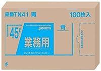(まとめ買い) ジャパックス メタロセン配合ポリ袋45L透明 100枚 TN43 【×3】