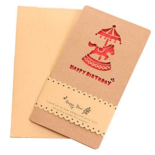 qishengshengwukeji geburtstagskarte lustig glückwunschkarte Geburtstag Gott Mütter Geschenke Popup-Karte Geburtstagskarten für Mama Mutter Geburtstagskarte Trojan