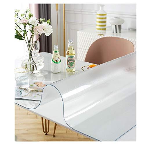 ZHANGQINGXIU Mantel Transparente Mate 2 Mm PVC Impermeable A Prueba De Aceite Resistente A Arañazos Protector De Mesa Tapete De Mesa Cubierta De Mesa, 21 Tamaños (Color : Clear, Size : 85x135cm)