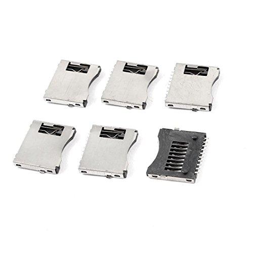 YeVhear SMT SMD - Teléfono móvil TF Micro SD - Soporte de ranura para tarjeta de memoria Sockets - Pack de 6