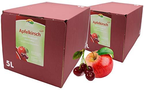 Bleichhof Apfel-Kirsch Direktsaft - 100% Direktsaft, vegan, Bag-in-Box mit Zapfsystem (2x 5l Saftbox)