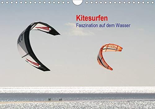 Kitesurfen – Faszination auf dem Wasser (Wandkalender 2020 DIN A4 quer): Bildkalender mit Fotos vom Kitesurfen (Monatskalender, 14 Seiten ) (CALVENDO Sport)