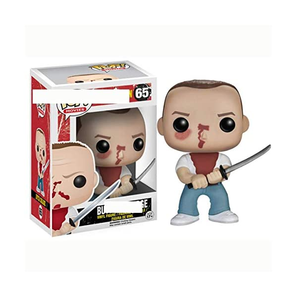 POIJK Bobblehead Figures POP película: Pulp Fiction-julios/vega/Jimmy/Butch decoración del coche (color: B) 2