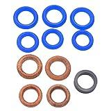 #N/a 11 unids/set reemplazo para la máquina de pulverización azul y negro Airless Kit de reparación de anillo de sello de aerosol 244194