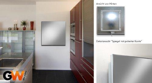 Infrarotheizung 450 Watt ESG Spiegel Glaswärmt Spiegelheizung