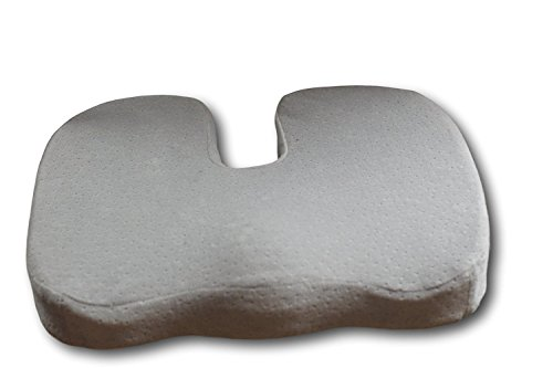Car Seat and Office Chair Cushion - Coccyx Pillow - Doctor Designed To Relieve Tailbone / Low Back Pain Donut Pillow - Cooling Gel Memory Foam Lumbar Pad - Reduces Hemorrhoid & Pilonidal Cyst Pain