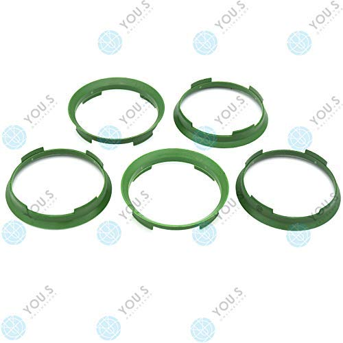 YOU.S ZENTRIERRING Grün für ALUFELGEN 70,4 x 67,1 mm (5 Stück) - A704671