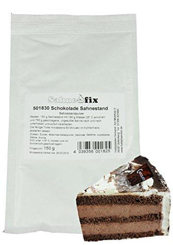Hobbybäcker Schoko-Sahnestand ► Tolle Schokoladen-Sahne für Torten & Kuchen ► Reicht für 750g Sahne bzw. 1 Torte, 150g