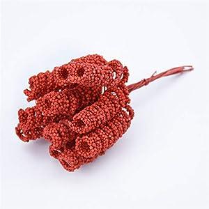 Artificial Flowers 12pcs Artificial Plants DIY Christmas Garlands Gypsophila Silk Flowers for Scrapbooking Fake Foam Spring DIY Wedding Home Decor Wedding Bouquets (Color : Red)