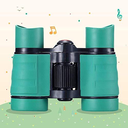 Concierto De Telescopio para Aficionados Al Aire Libre Binoculares para Niños Observación De Aves para Niños Que Acampan, con Mira De Objetivo De Lupa, Verde