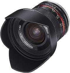 Samyang 12mm F2.0 Objektiv für Sony E – Weitwinkel Objektiv Festbrennweite manueller Fokus Foto Objektiv für Sony E-Mount APS-C Kameras Sony Alpha 6600 6500 6400 6300 6100 6000 5100 5000 schwarz