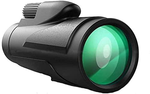 LFERRTYZ Télescope monoculaire 12x50 pour intérieur/extérieur, télescope monoculaire Compact Avec oculaire de 20 mm Grande vue monoculaire à lentille prisme BAK4 pour adultes Enfants observación