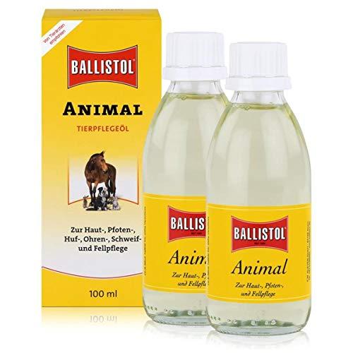 Ballistol Animal Tierpflegeöl 100ml - Für Haut, Pfoten und Fellpflege (2er Pack)