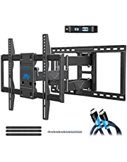 Mounting Dream TV Wall Mount Bracket for 42-75 Inch TVs, Premium TV Mount, Full Motion TV Mounts with Swivel Articulating Dual Arms, VESA 600x400mm Fits 16, 18, 24 inch Studs, 132 lbs MD2298