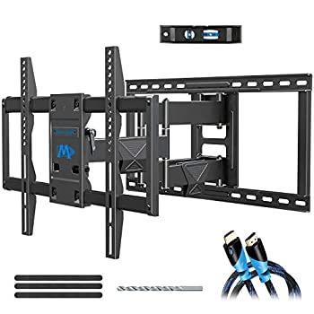 Mounting Dream TV Wall Mount Bracket for Most 42-75 Inch TVs Premium TV Mount Full Motion TV Mounts with Swivel Articulating Dual Arms VESA 600x400mm Fits 16 18 24 inch Studs 132 lbs MD2298