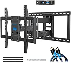 Mounting Dream TV Wall Mount Bracket for 42-75 Inch TVs, UL listed TV Mount, Full Motion TV Mounts with Swivel Articulating Dual Arms, VESA 600x400mm Fits 16, 18, 24 inch Studs, 132 lbs MD2298