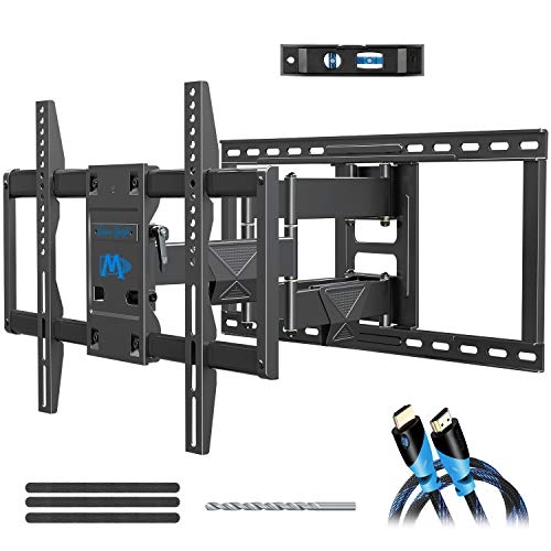 Mounting Dream TV Wall Mount Bracket for Most 42-75 Inch TVs, Premium TV Mount, Full Motion TV Mounts with Swivel Articulating Dual Arms, VESA 600x400mm Fits 16, 18, 24 inch Studs, 132 lbs MD2298