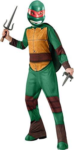 Tortugas Ninja - Disfraz de Raphael, para niños, talla L (Rubie
