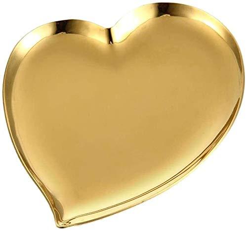 Nologo Bandejas de Toalla de Acero Inoxidable, en Forma de corazón joyería Bowl, Muti-función cosmética Organizador bandejas de Toallas for la baratija de Anillo, Caramelo, joyería, Fruta, Postre