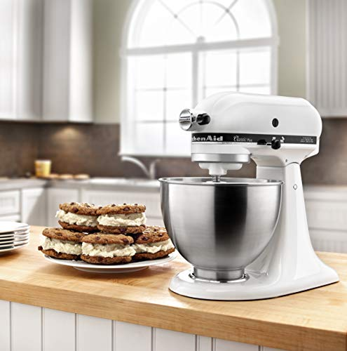 KitchenAid KSM75WH Stand Mixer, 4.5 Qt, White
