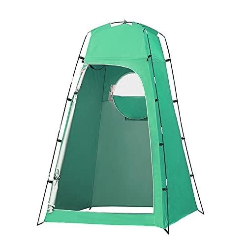 JQAM Carpa Impermeable para Inodoro, Carpa de privacidad portátil para Acampar en la Playa, Refugio Solar al Aire Libre con Bolsa (Color : Green)