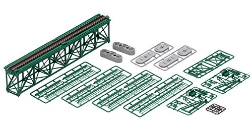 TOMIX Nゲージ 上路式単線トラス鉄橋S280 (F) 深緑 (PC橋脚・2本付) 3267 鉄道模型用品