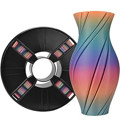 ERYONE Rainbow PLA Filament 1.75mm Filament for 3D Printer 1kg /Spool, Classical Rainbow