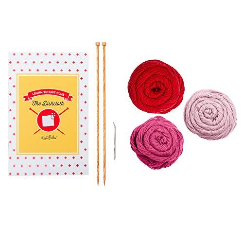 Knit Picks Learn to Knit Beginner Kit: Dishcloth (Smitten)
